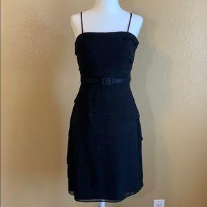 White House Black Market Black Tier Dress